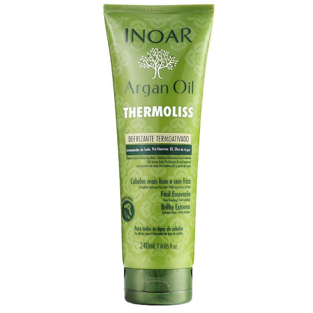INOAR Argan Oil Thermoliss - Defrizante Termoativado (240 ml)