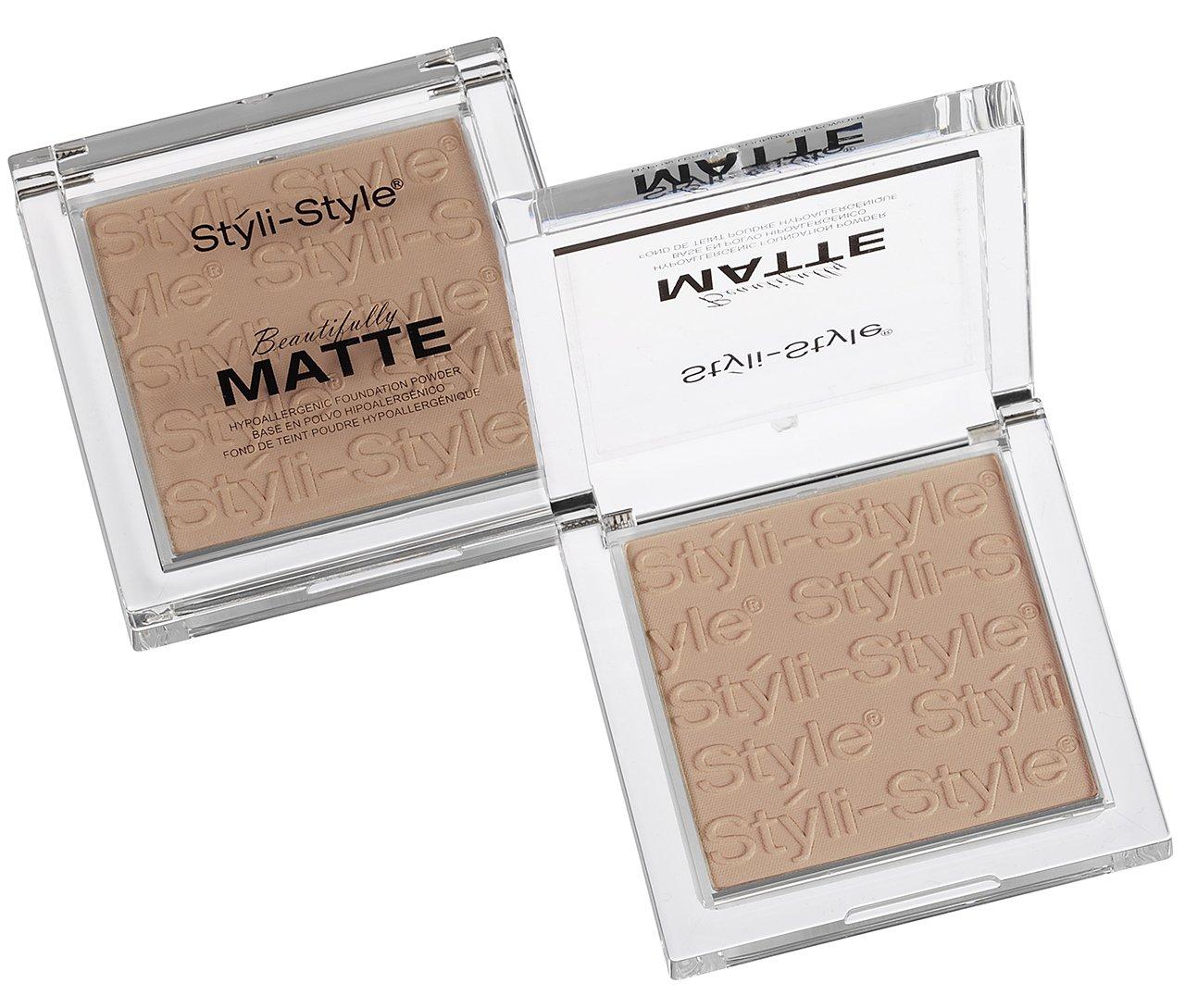 Styli-Style Cosmetics Beautifully Matte - Face Powder - Warm Beige, .32 oz/(9g)