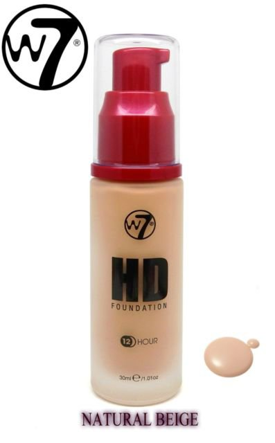 W7 HD Foundation 12 Hour (12HR) HD Foundation - Natural Beige)