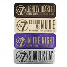 (4-PACK) W7 Palette Collection Includes Lightly Toasted, Colour Me Nude, In the Night & Smokin