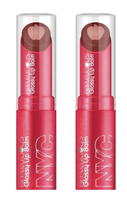 (2-PACK) NYC New York Color Applelicious Glossy Lip Balm Big Apple Red 356