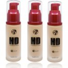 (3-Pack ) W7 - HD Foundation Early Tan 12 Hours 30ml