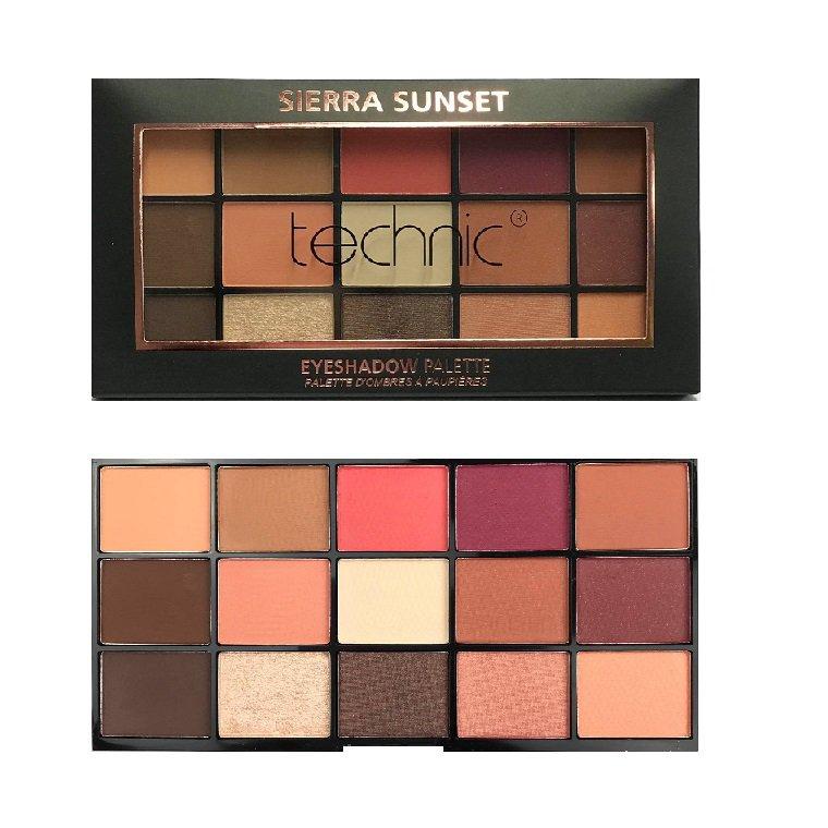 Technic X 15 Eyeshadow Palettes, Sierra Sunset