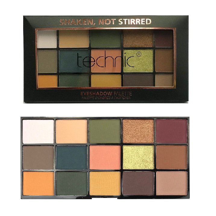 Technic X 15 Eyeshadow Palettes, Shaken Not Stirred