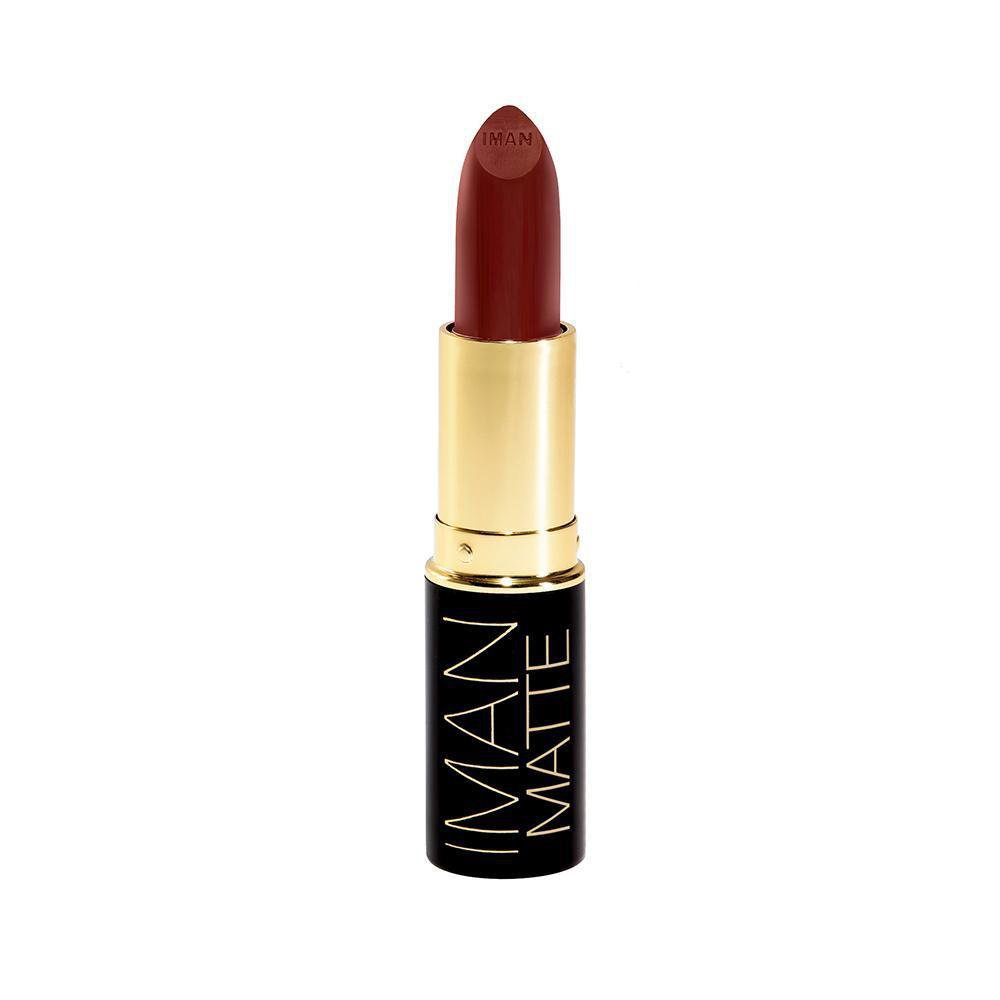 Iman Cosmetics Luxury Matte Lipstick, Assassin, 0.13 oz