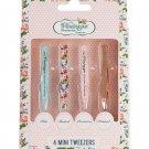 The Vintage Cosmetic Company 4 Piece Mini Tweezer Set