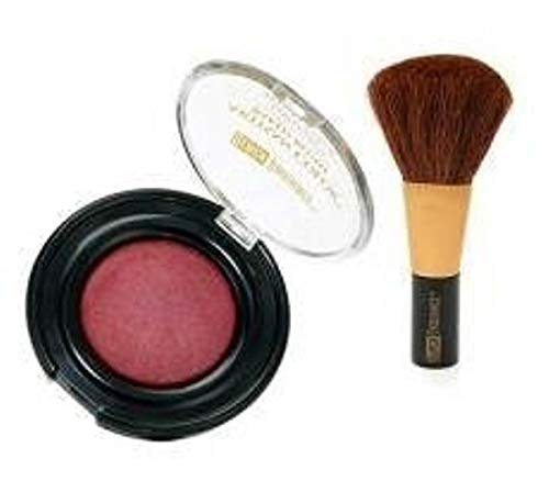 Black Radiance Artisan Color Baked Blush Set: Baked Powder Blush 8305 Warm Berry & Blush Brush C6103