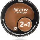 Revlon ColorStay 2-in-1 Compact Makeup & Concealer, Toast 370