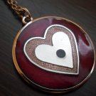 Modernist de Passille Sylvestre heart enamel necklace