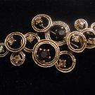 Austrian crystal brooch costume jewelry