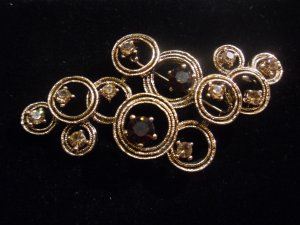 Austrian crystal brooch costume jewelry