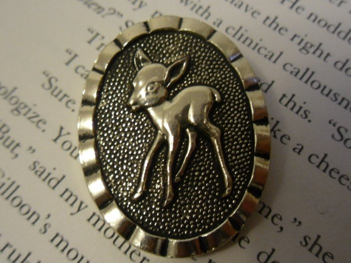 Vintage Fawn Money Clip from Western Germany