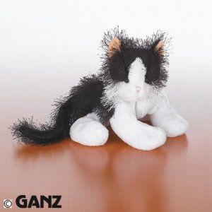 Webkinz Black and White Cat w/ NEW TAG Sealed Code