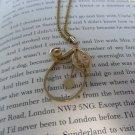 Vintage Gold Metal Eggplant Necklace