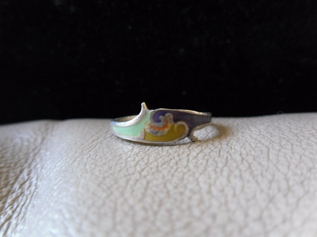 Vintage Silver Multicolored Cloud Ring 2 (size 6)
