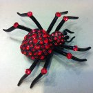 Red Spider Brooch Costume Jewelry
