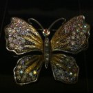 Rainbow Butterfly Brooch Costume Jewelry