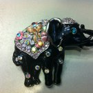 Elephant Crystal Brooch Costume Jewelry