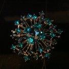 Blue Fireworks Brooch Costume Jewelry