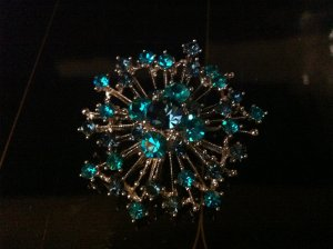 Blue Fireworks Brooch Costume Jewelry