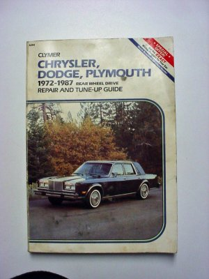Clymer Chrysler Dodge Plymouth Repair Manual 72 to 87