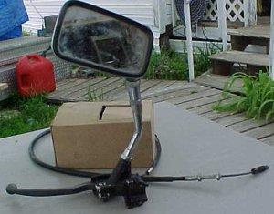 83-85 Honda 500 Shadow Clutch handle & Mirror Assembly