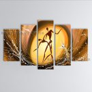 Pentaptych Modern Abstract Painting Wall Art Figure Interior Design