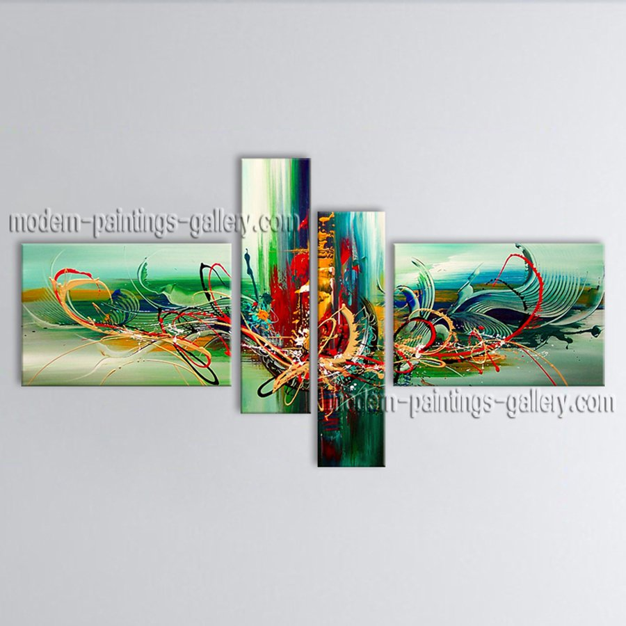 Hand Painted Large Modern Abstract Painting Wall Art Inner Stretched