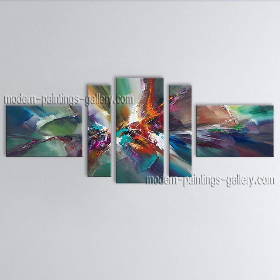 Hand Painted Large Modern Abstract Painting Wall Art Inner Framed