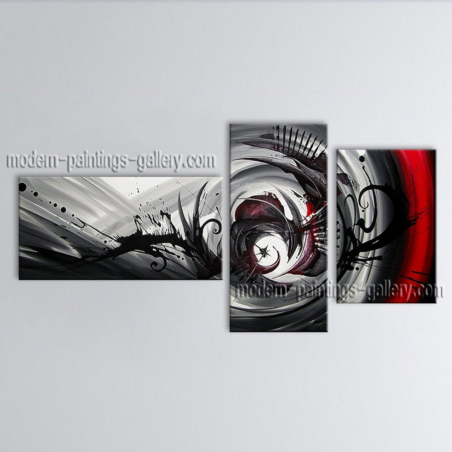 Hand Painted Elegant Modern Abstract Painting Wall Art Interior Design