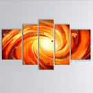Hand Painted 5 Pieces Modern Abstract Painting Wall Art Inner Stretched
