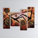 Tetraptych Modern Abstract Painting Wall Art Figure Artwork Images