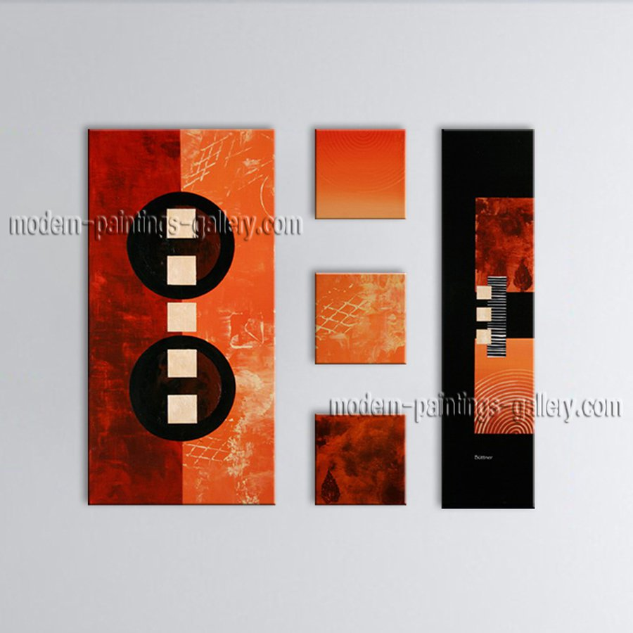 Hand Painted Large Modern Abstract Painting Wall Art Decoration Ideas