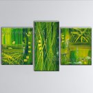 Hand-painted Triptych Modern Abstract Painting Wall Art Artist Artworks