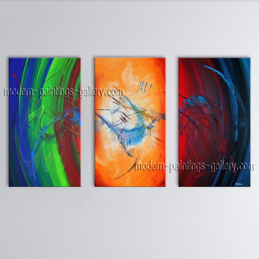 Handmade Artcrafts Elegant Modern Abstract Painting Wall Art Ready To Hang