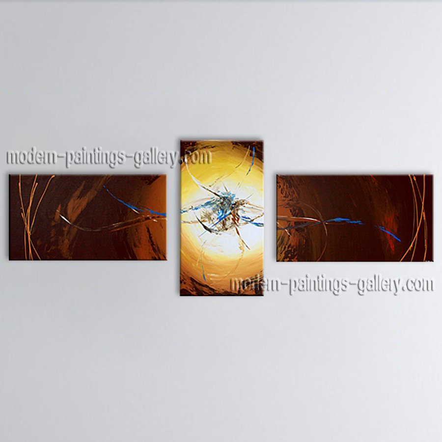 Hand Painted Triptych Modern Abstract Painting Wall Art Decoration Ideas