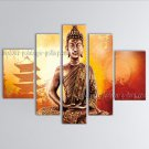 Large Feng Shui Zen Art Contemporary Painting Buddha Oil On Canvas