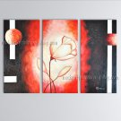 Triptych Contemporary Wall Art Floral Painting Tulip Decoration Ideas