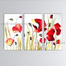 Stunning Contemporary Wall Art Floral Poppy Flower Inner Stretched