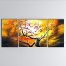 Beautiful Contemporary Wall Art Floral Painting Plum Blossom Ready To Hang