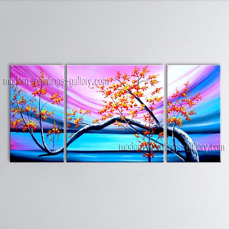 Elegant Contemporary Wall Art Floral Plum Blossom Decoration Ideas