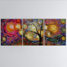 Beautiful Contemporary Wall Art Floral Painting Lucky Tree Inner Stretched
