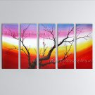 Large Contemporary Wall Art Floral Painting Plum Blossom Ready To Hang