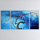 Elegant Contemporary Wall Art Floral Painting Plum Blossom Inner Stretched