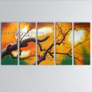 Large Contemporary Wall Art Floral Painting Plum Blossom Interior Design