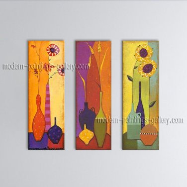 Handmade Stunning Contemporary Wall Art Floral Painting Flower Paintings