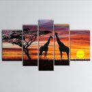 Pentaptych Contemporary Wall Art Landscape Painting Tree Artist Artworks