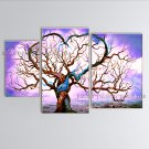 Large Contemporary Wall Art Landscape Painting Tree Inner Stretched