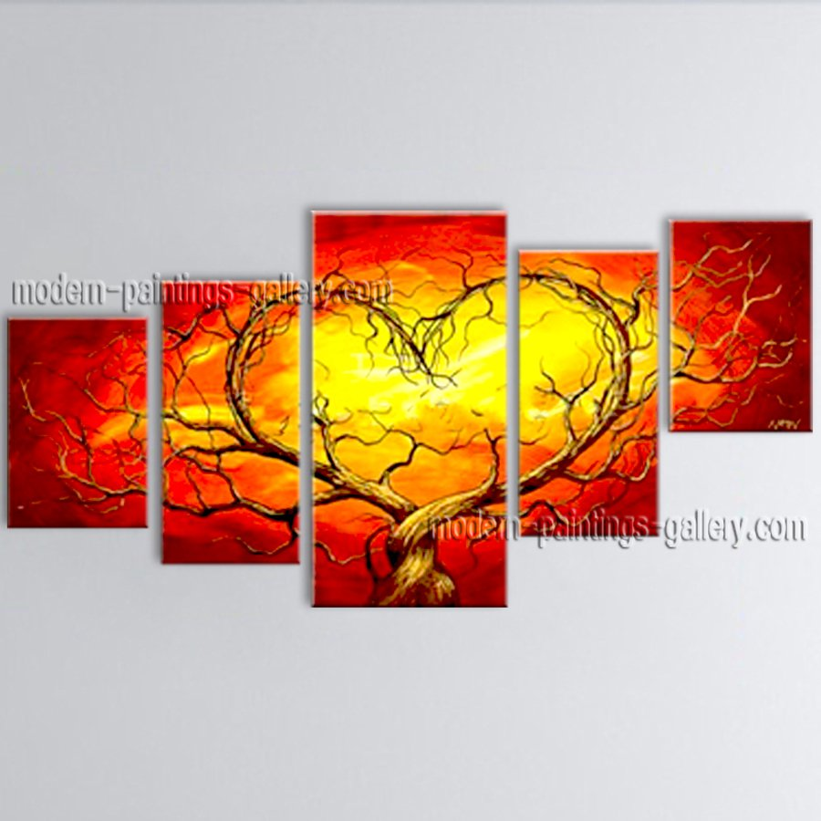 Large Contemporary Wall Art Landscape Painting Tree Landscape Scene