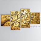 Tetraptych Contemporary Wall Art Landscape Painting Tree Decoration Ideas